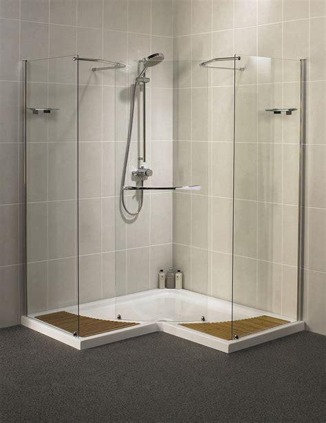 glass walls bathroom aqualux aquaspace corner walk through shower enclosure 1500mm