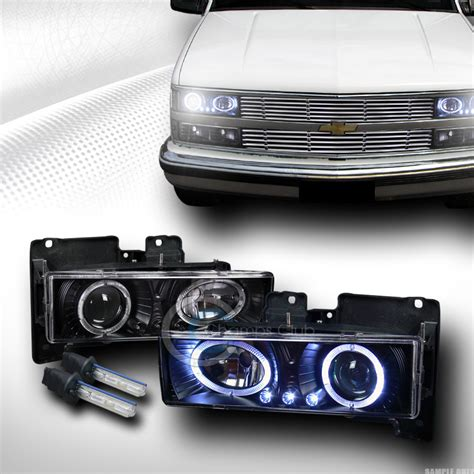 6000k hid xenon blk led halo projector lights 88 98
