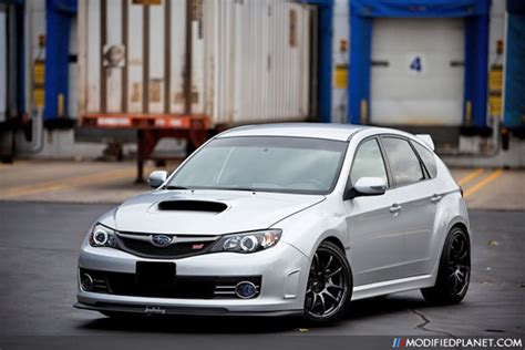 black advan rz wheels silver subaru wrx sti
