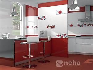 Faience cuisine rouge et blanc maison design bahbecom for Faience cuisine rouge et blanc