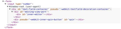 javascript can i hide the html5 number input s spin box