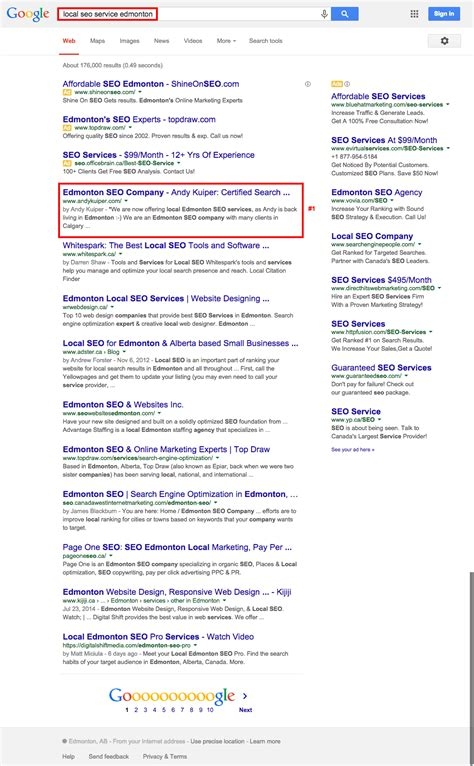 Local Search Engine Optimization Services by Andy Kuiper Marketing Edmonton Seo Expert