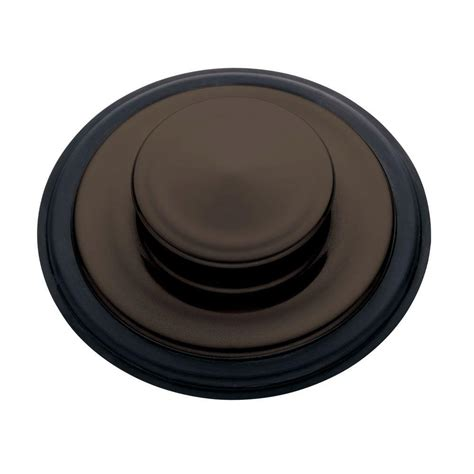 insinkerator sink top switch rubbed bronze insinkerator sink stopper in rubbed bronze for