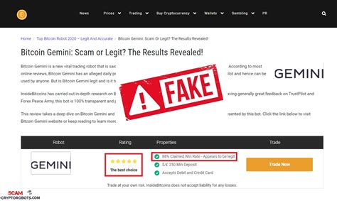 Find out about the scams that are taking place and how to spot and avoid them. Bitcoin Gemini Review, SCAM App Exposed | Scam Crypto Robots