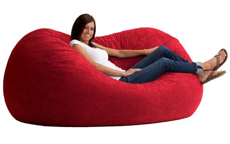 tempting large fuzzy bean bag chair in bedroom decor