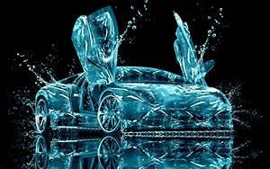 Lamborghini, Water, Abstract, Hd, Wallpaper