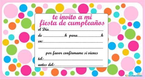 invitaci 243 n de cumplea 241 os o fiestas infantiles parte i