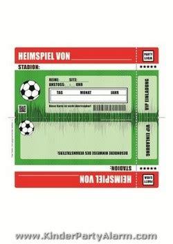 fussball ticket einladung