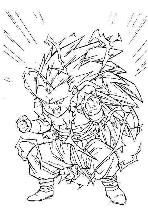 Coloriage De Dragon Ball Z De Sangohan