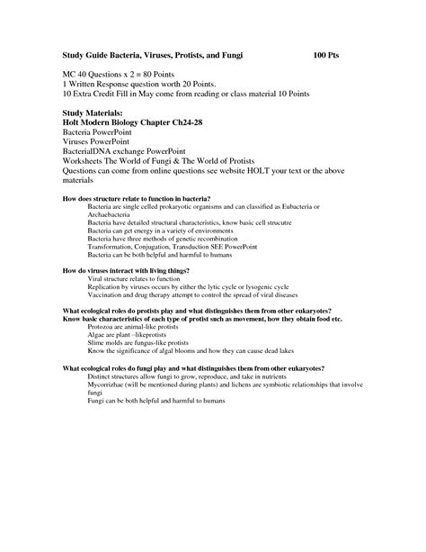 14 Best Images Of Viruses And Bacteria Worksheets  Bacteria And Viruses Worksheet Answers