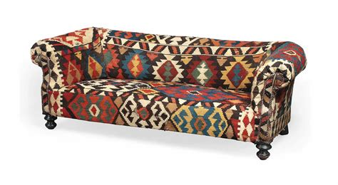 Kilim Loveseat by A Kilim Upholstered Chesterfield Sofa Late 20th Century
