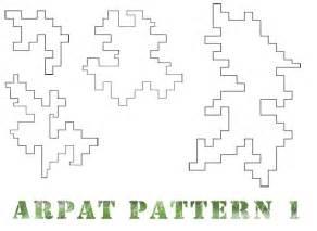 Printable Digital Camo Pattern Stencils