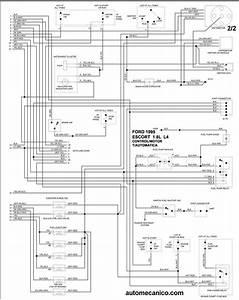 Ford Diagramas Control Del Motor 1995 Econoline  Escort