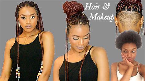 fulani braids beads undercut transformation crochet