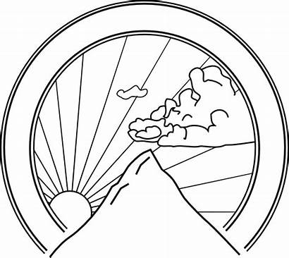 Mountain Vector Clipart Line Clip Library Seal