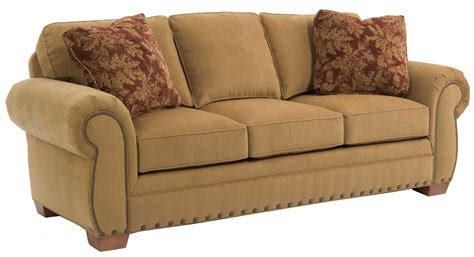 broyhill cambridge three seat sofa broyhill furniture cambridge casual style sofa with nail