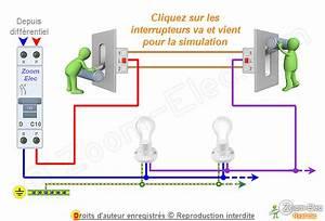 Schema Electrique Va Et Vient 3 Interrupteurs : sch ma va et vient schema lectrique interactif d un va et vient ~ Medecine-chirurgie-esthetiques.com Avis de Voitures