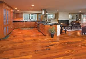 fabulous friendly kitchen with brazilian koa hardwood