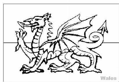 Wales Coloring Flags Flag Colouring Welsh Pages