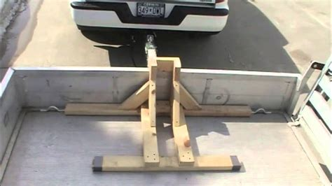Front Wheel Stand Motorcycle how to build a motorcycle wheel chock amp transport your