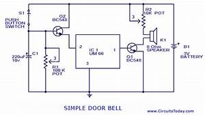 Doorbell Circuit Using Um 66 Ic Circuit Diagram World