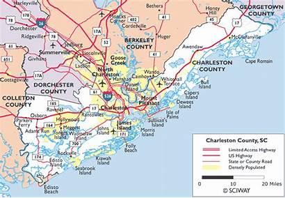 Charleston Map Carolina Sc South Maps County