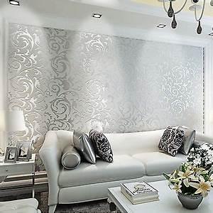Wandfarbe Silber Glänzend : die besten 25 barock tapete ideen auf pinterest barock ~ Michelbontemps.com Haus und Dekorationen