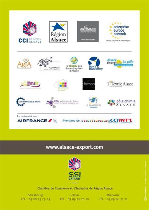 chambre commerce mulhouse programme régional cci alsace export 2012