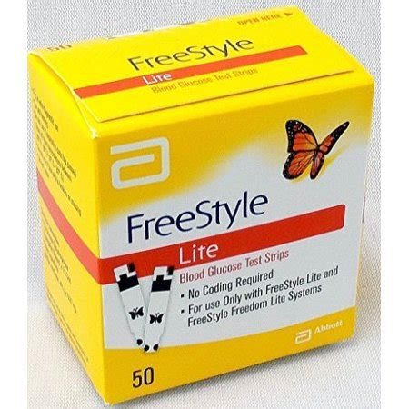 pack freestyle lite blood glucose test strips  count