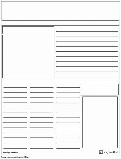 Jornal Layout Krant Giornale Lay Examples Storyboard