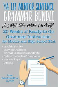 Ya Lit Mentor Sentence Grammar Bundle Plus Interactive