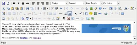 tinymce content templates the 10 best wysiwyg html editors