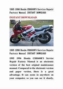 1995 1996 Honda Cbr600 F3 Service Repair Factory Manual