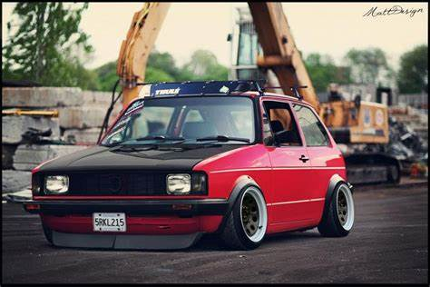 Slammed At A Golf Tourna vw golf mk1