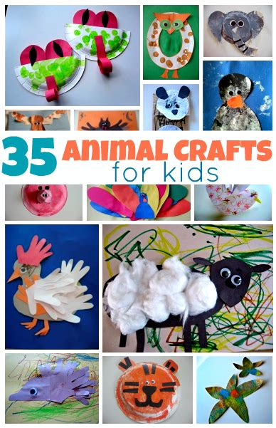 35 easy animal crafts for no time for flash cards 576 | animal crafts for kids1