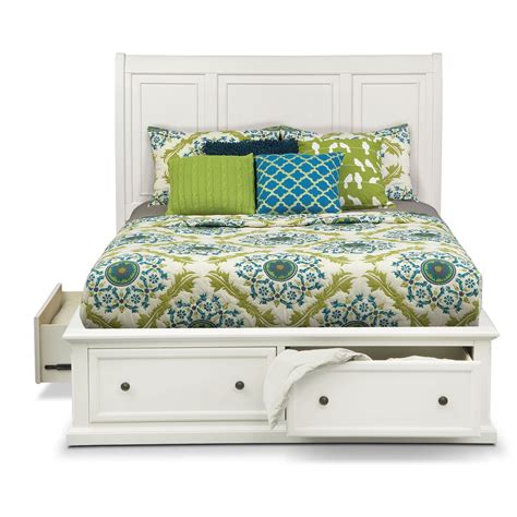 simmons beautyrest hanover white storage bed value city furniture