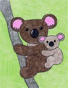 Koala   Art Projects for Kids. PDF tutorial available. # ...
