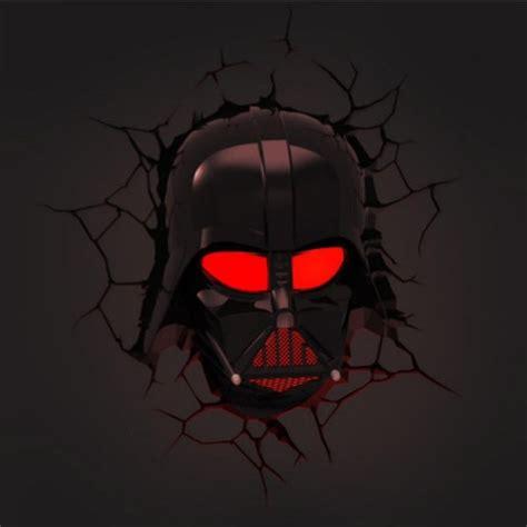 darth vader wall night light star wars darth vader mask 3d deco led wall light night