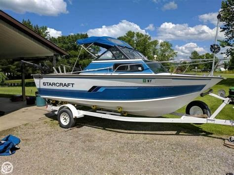 Used Aluminum Fishing Boats New York by 1992 Used Starcraft Islander 191v Aluminum Fishing Boat