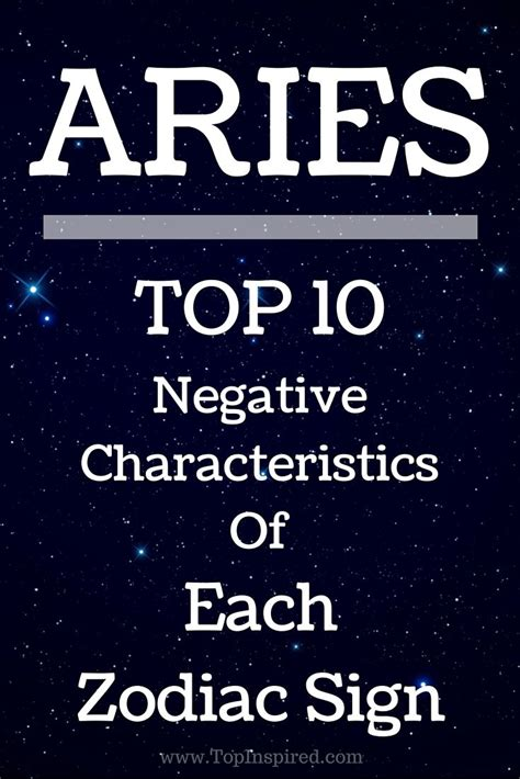 aries negative characteristics 188 best astrology zodiac sign aries images on