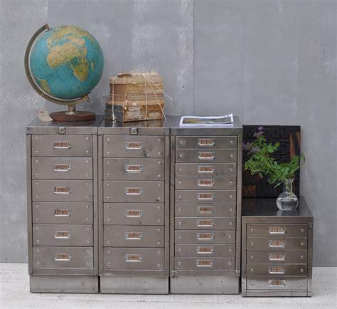 Vintage Industrial Steel Filing Cabinet 10 Drawer