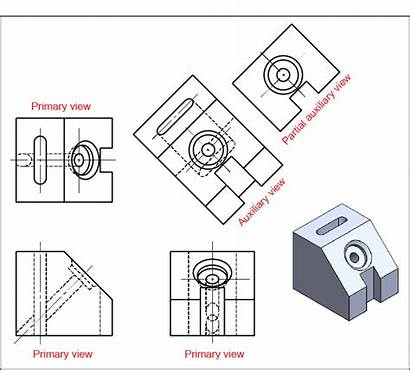Auxiliary Views Engineering Drawing Drawings Ability Webpage
