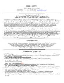 supply chain executive resume format top supply chain resume templates sles