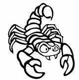 Scorpion Coloring Animals Printable Animal Preschool Sheet sketch template
