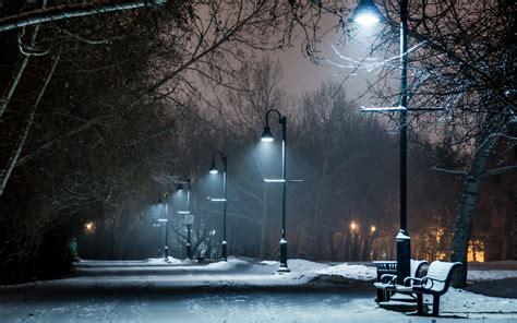 Night Snow Wallpaper Background