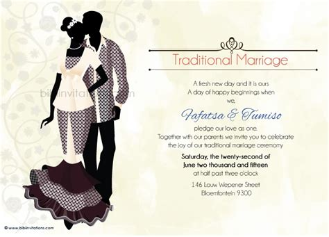Kitchen Bridal Shower Ideas - ratu sotho traditional wedding invitation
