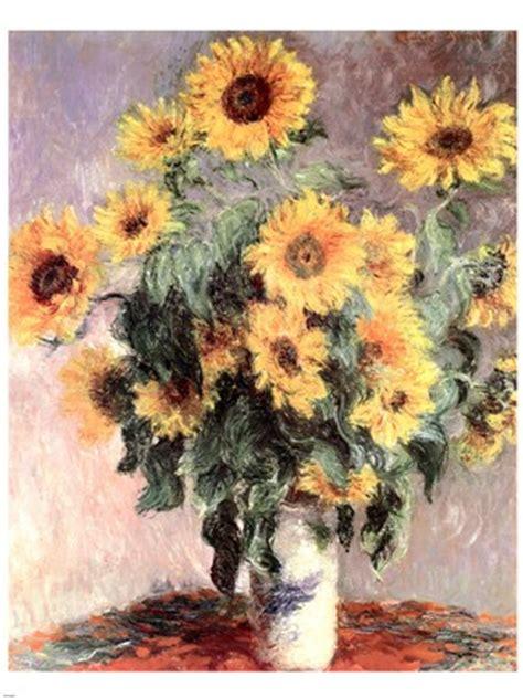 sunflowers  fine art print  claude monet