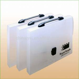 Pp plastic clear frosted document case file box with for Plastic document case with handle