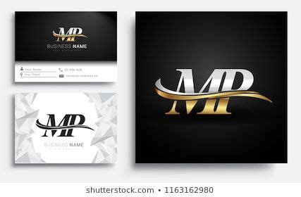 initial letter mp logotype company  stock vector royalty