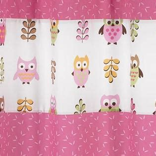Sweet Jojo Owl Curtains by Sweet Jojo Designs Owl Pink Collection Shower Curtain